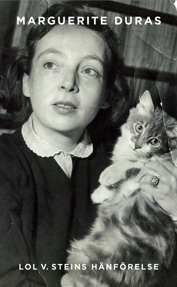 Duras and her cat are featured in the Swedish cover of 'The Ravishing of Lol Stein'
