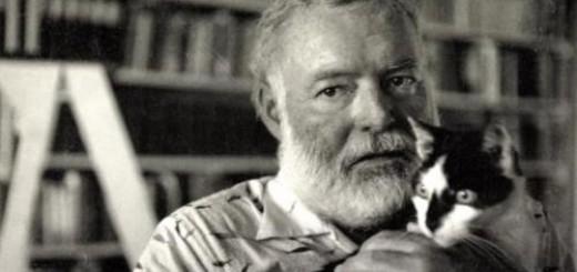 Ernest Hemingway. TOP fotografii de colecție cu scriitori celebri și pisici!