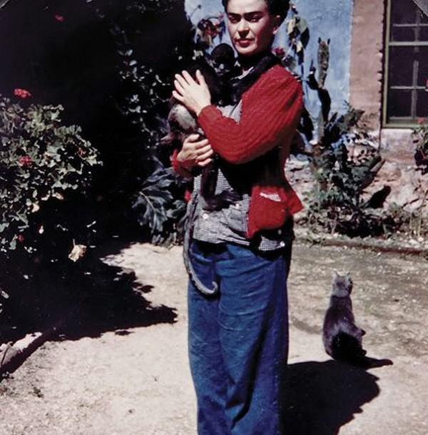 Frida Kahlo.Poze de colecție cu artiști si pisici