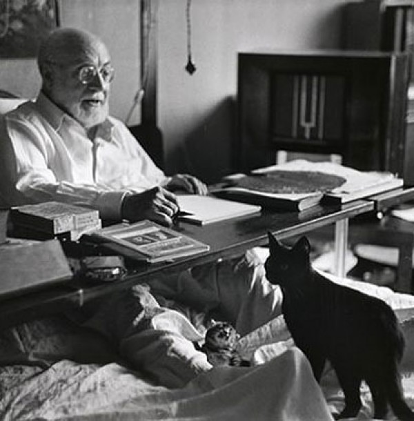 Henri Matisse loved his cats Minouche and Coussi
