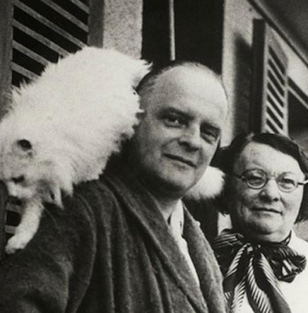Paul Klee with kitty, Bimbo