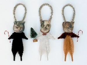 ornament brad 3 pisici
